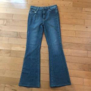 Paige Bell Canton Hi Rise Flare Jeans Denim